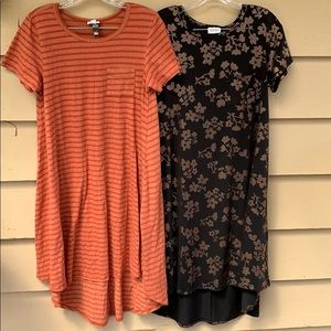 Bundle of 2 Carly Dresses Lularoe XS/S